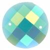 Opal Bright Sew-on Stone 10pcs Round 16mm Turquoise Aurora Borealis
